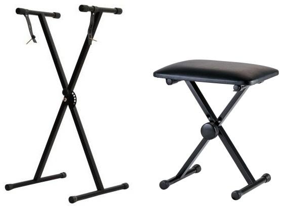 Stabilný statív + Bench pre klávesnicu Piano Promo