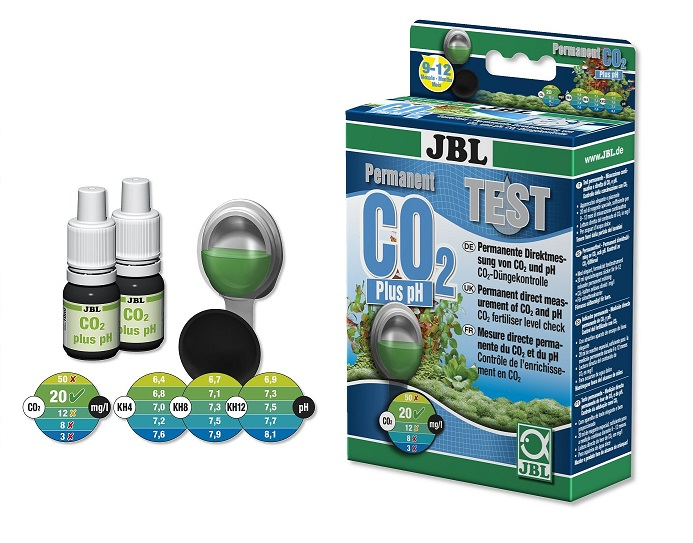 JBL CO2 PH TEST VODY akvária sumec 2 x REAGENCIE
