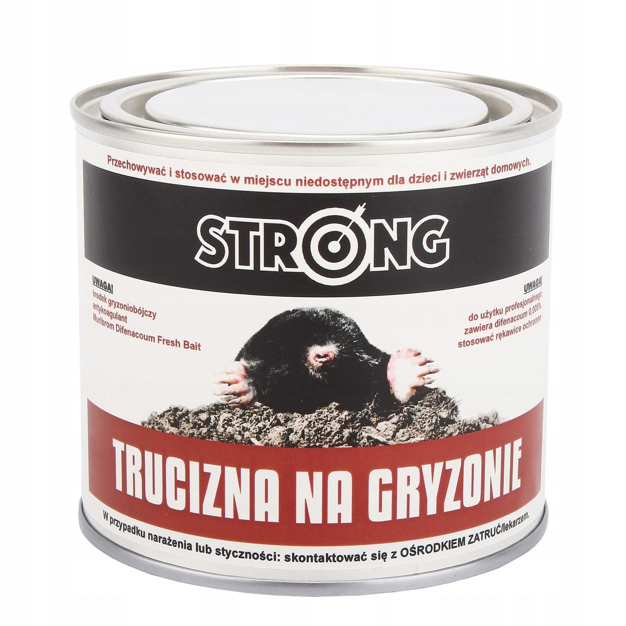 STRONG TRUCIZNA NA KRETY, NORNICE, GRYZONIE 20szt