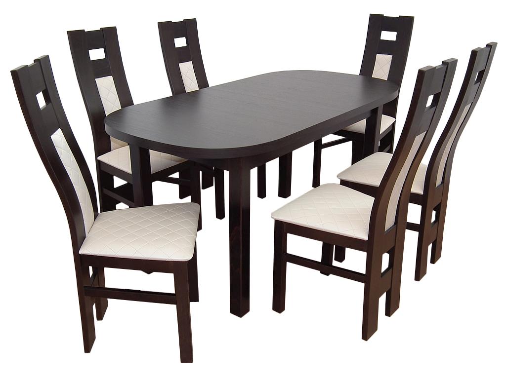 Jedáleň nastaviť Tabuľka 80x160x200 + 6 stoličiek