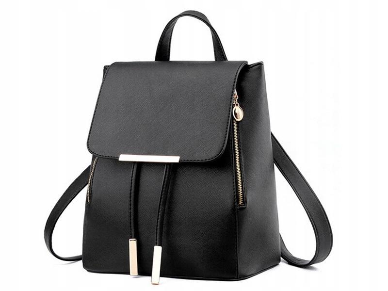 L17 Рюкзак черный женский ELEGANT Школьная кожа
