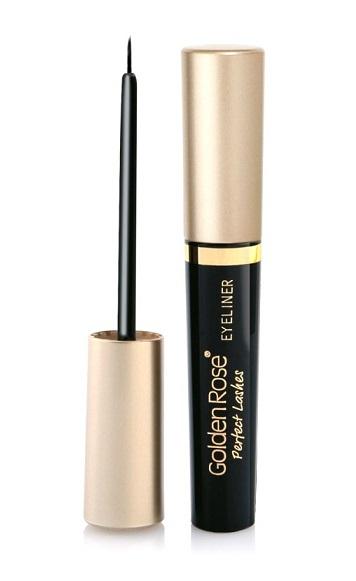Golden Rose perfektné riasy očné linky čierna