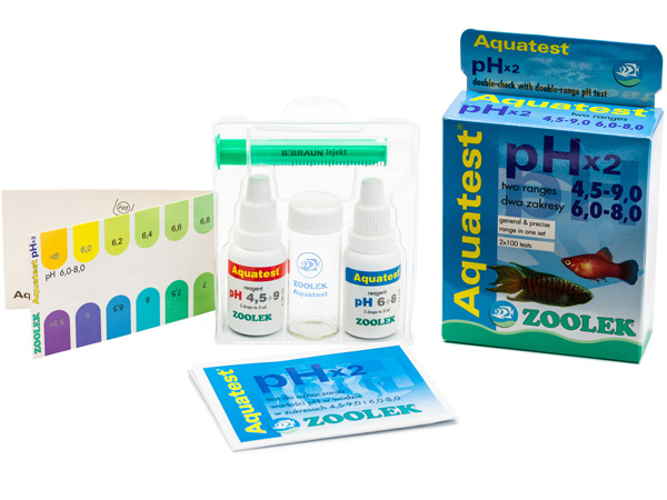 ZOOLEK AQUA TEST pH x2 диапазон 4.5-9.0 и 6.8-8.0