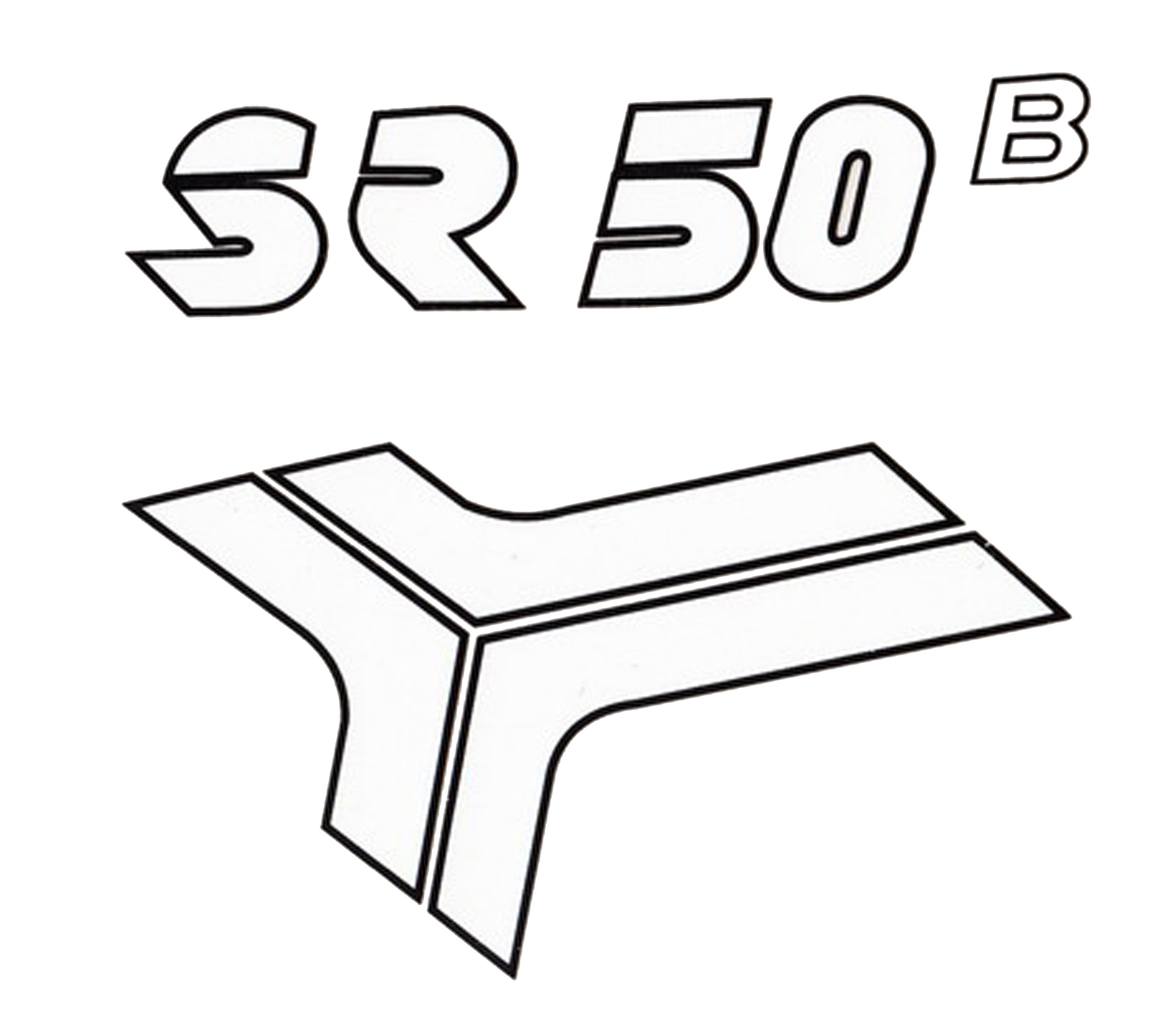 STICKER NA THE LID SIDE AERO RESISTANCE SIMSON SR 50 LT