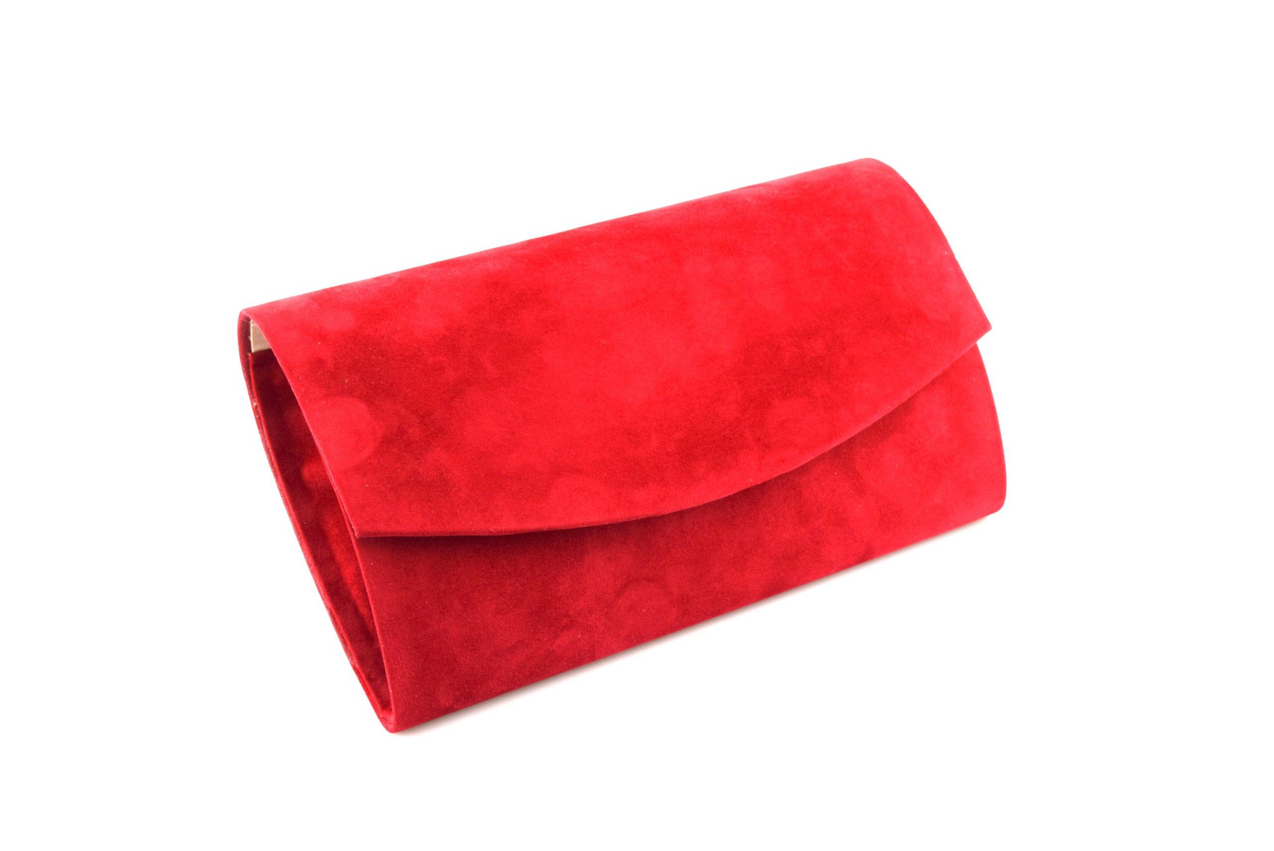 1e5e246b0edda Czerwona damska torebka kopertówka LaModa S3 zamsz 6898632250 - Allegro.pl