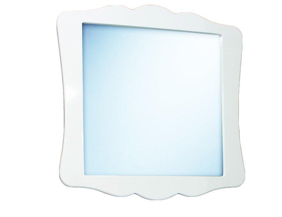 BIELE Zrkadlo Kúpeľňa RETRO lakovanej kože 79x79