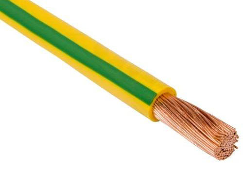 Провод одножильный 1,5мм2 (желто-зеленый)