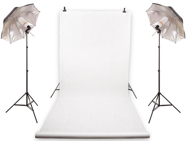 Item SET HOME STUDIO 2x625W + PHOTO BACKGROUND