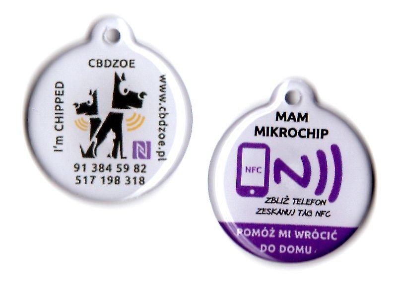 NFC tag prívesok na identifikáciu mačky cbbzee