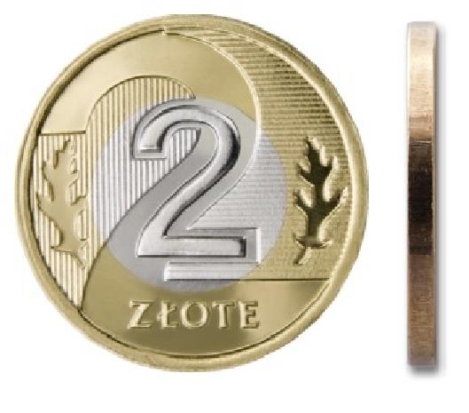 2 злотых монетного двора 2014