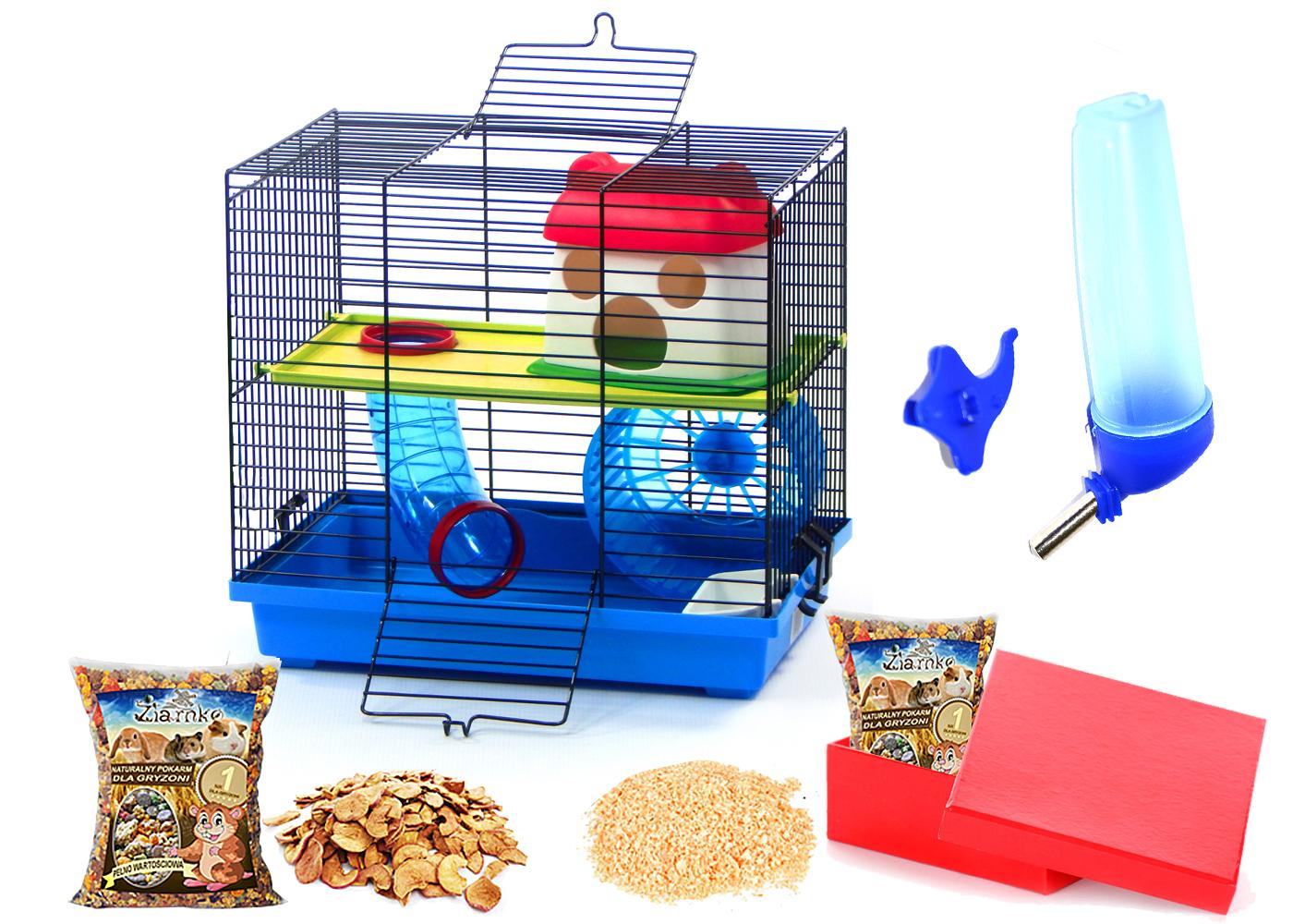 клетка ДЛЯ ХОМЯКА мышь ГРЫЗУНОВ +ОПИЛКИ+корм