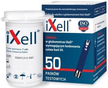 IXELL GLUCOME STRIPY 50 Strips Meranie glukózy
