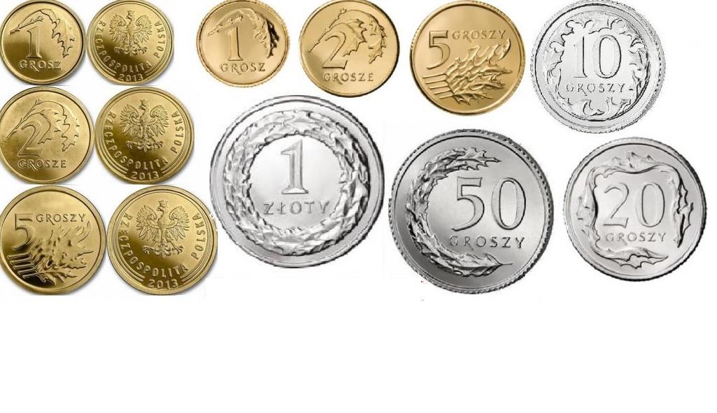 1,2,5,10,20,50 гр. 1 злотый 2013 + 1,2,5 злотый Королевский монетный двор
