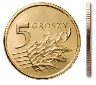 Чеканка 5 грошей 1992 г. в мешочке
