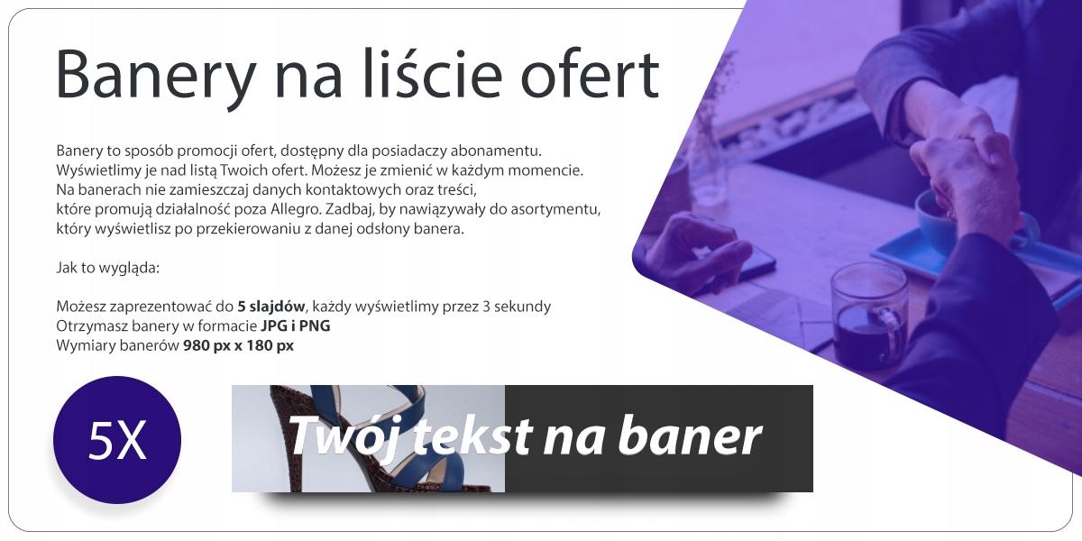 5x Banery Na Liście Ofert Allegro Nowość 7459528785 Oficjalne