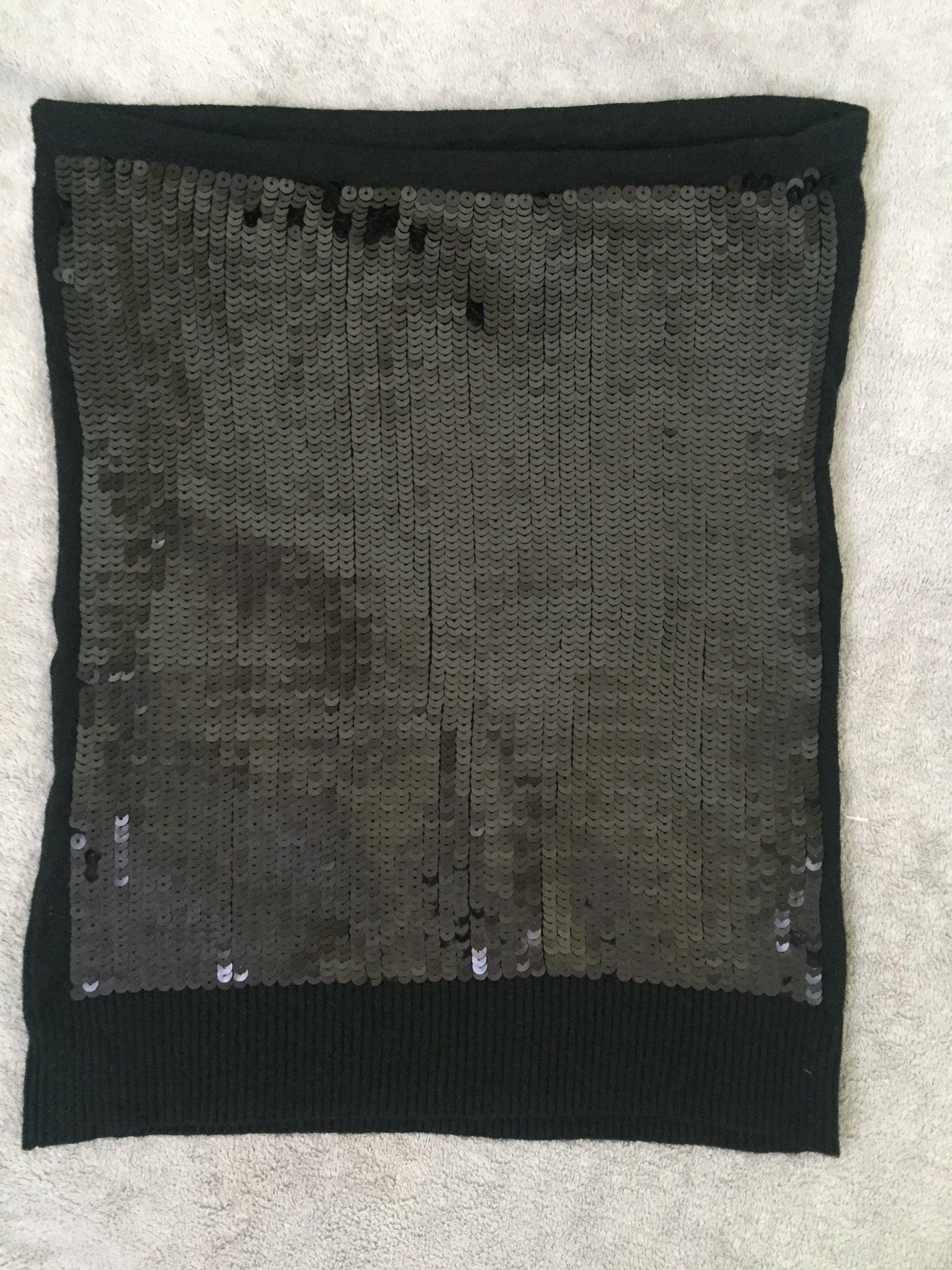 67cedd1b czarny top bez ramiączek tuba cekiny S 36 jak nowy