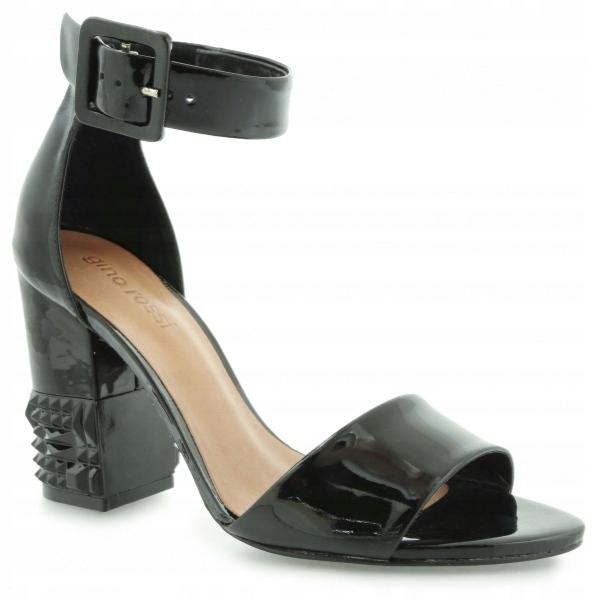 3467938358ef9 -75% czarne buty lakierowane SANDAŁY GINO ROSSI 40 - 7523358363 - oficjalne  archiwum allegro