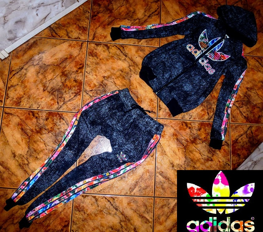 dobrze znany amazonka przystępna cena ADIDAS DRES komplet bawełniany legginsy i bluza XS