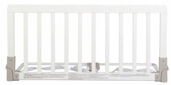 Babydan Drewniana Barierka Do łóżka Biała 7404748301