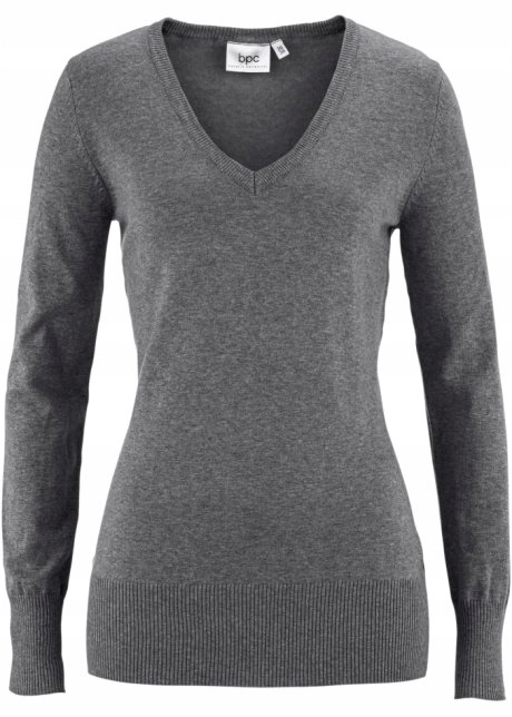 ZZX611 SZARY SWETER / PULLOVER 36/38 N-V