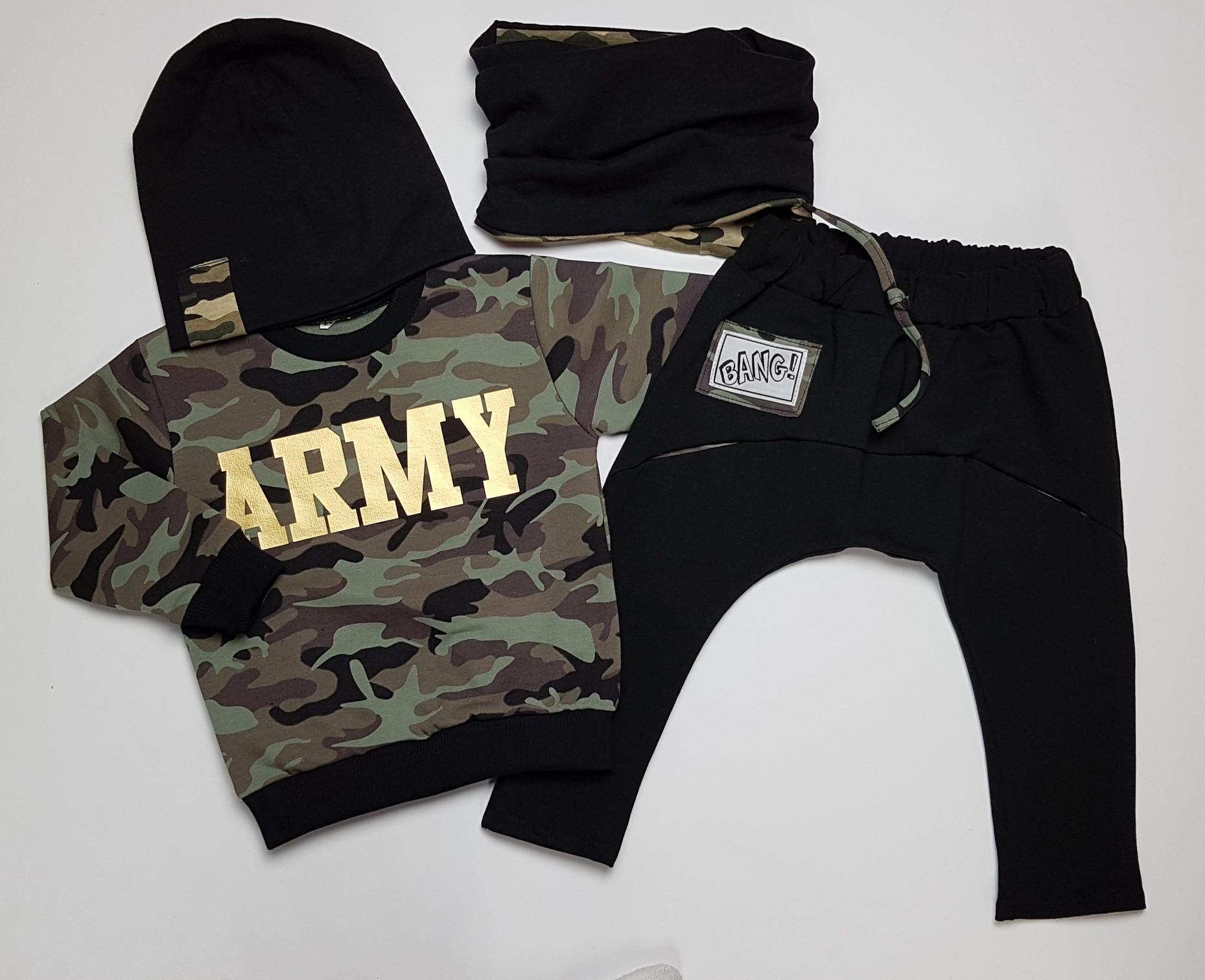 10c984033 Komplet chłopięcy ARMY moro spodnie+bluza roz 122 - 7257210348 ...