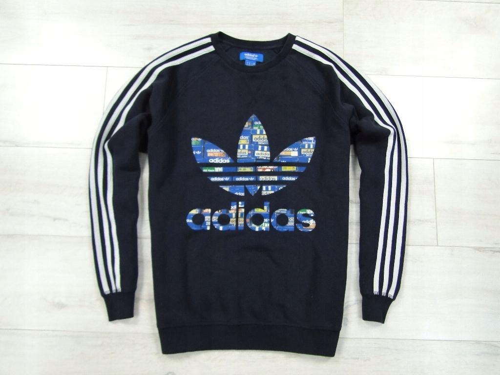 Adidas Oldschool Orginals Bluza Logo Kaptur *M* Zdjęcie na