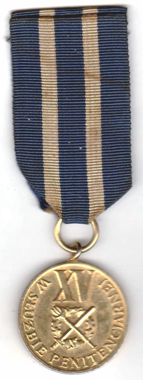 Medal XV lat w służbie penitencjarnej
