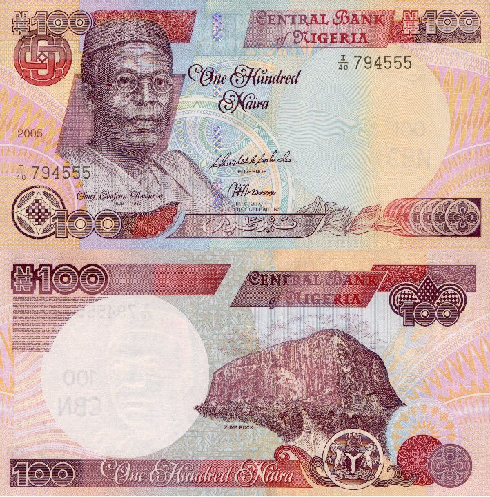 Nigeria 100 Naira P 28 2005 Stan I Unc