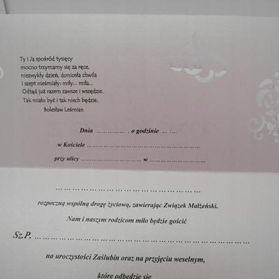 Zaproszenie ślubne Ażurowe Koperta ślub Nowość