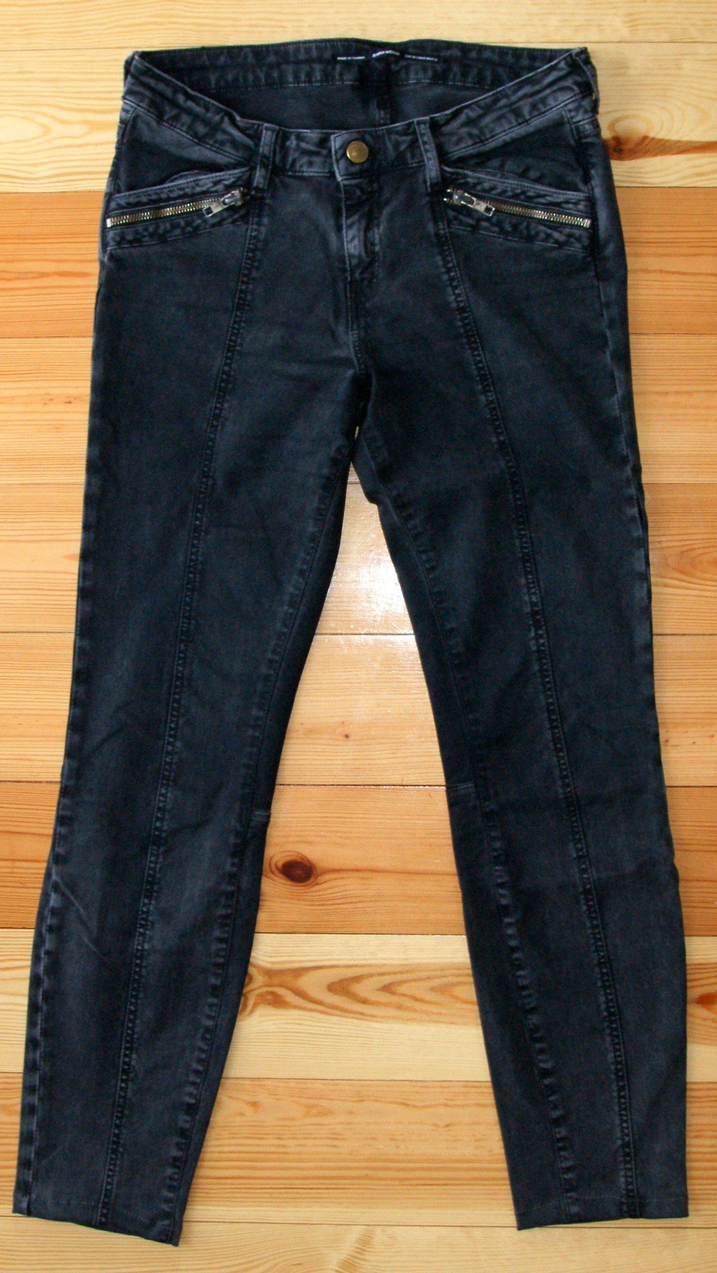 ZARA jeansy spodnie skinny marmurek 36 j.nowe