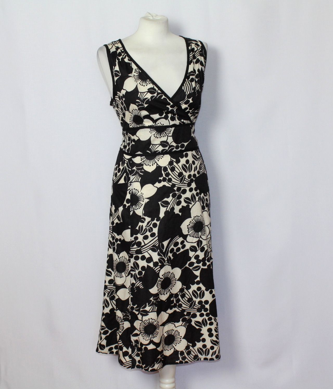 bea303479a Bawełniana rozkloszowana sukienka w kwiaty 48 20 - 7076309738 ...