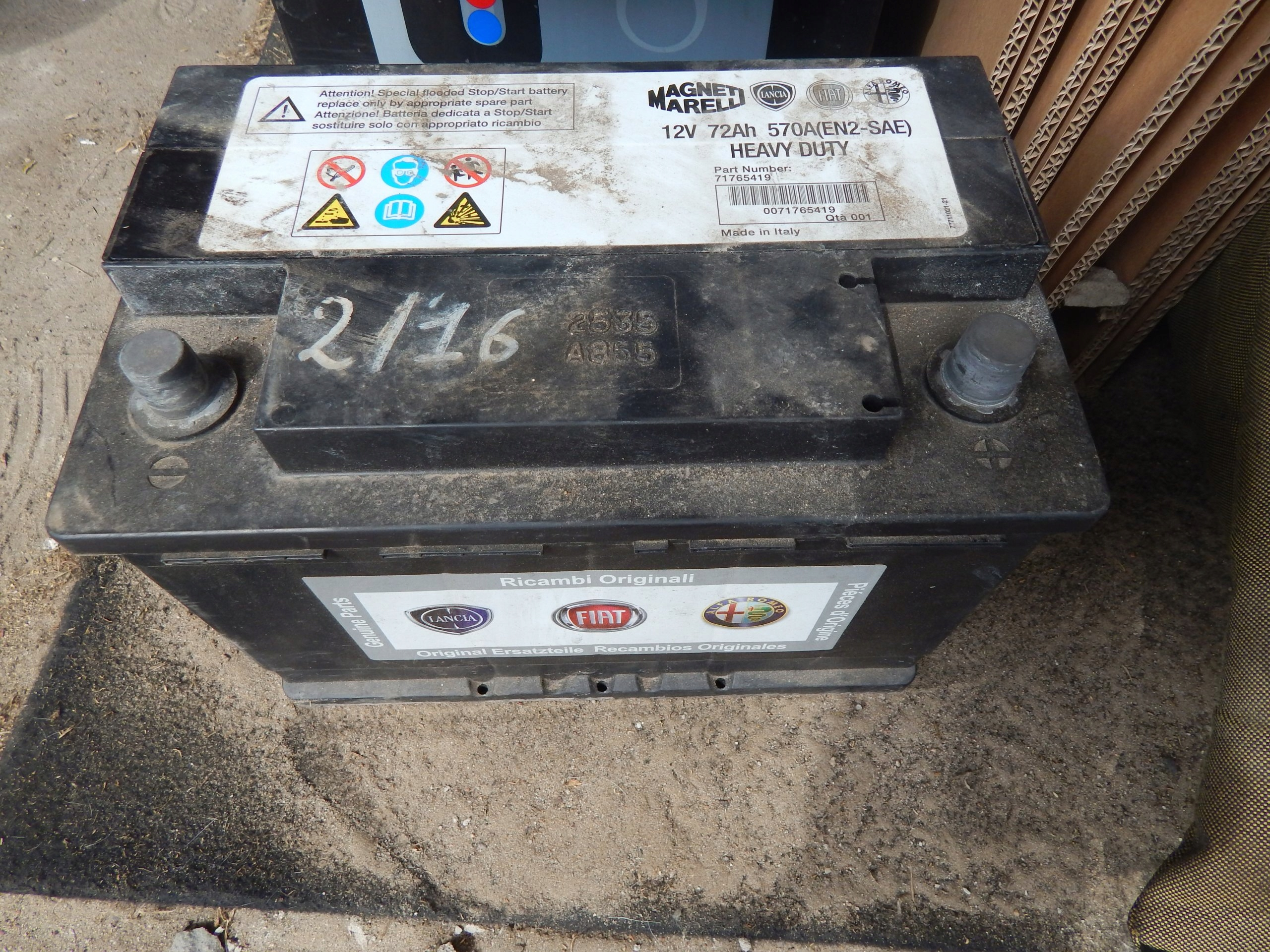 AKUMULATOR 72AH 570A FIAT 500X