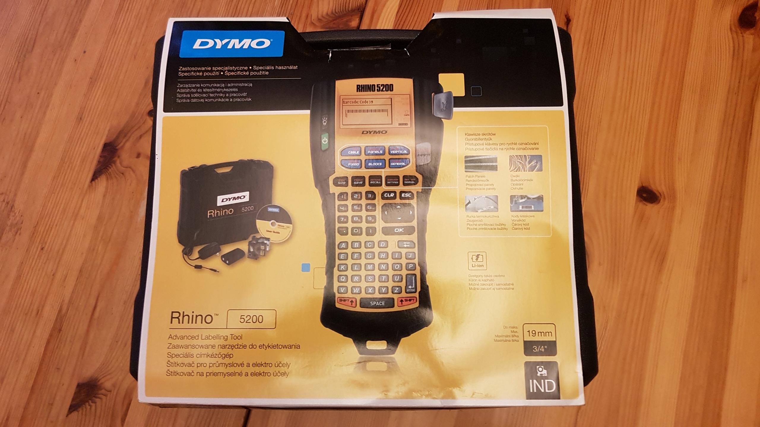 DYMO , DRUKARKA ETYKIET DYMO , RHINO 5200