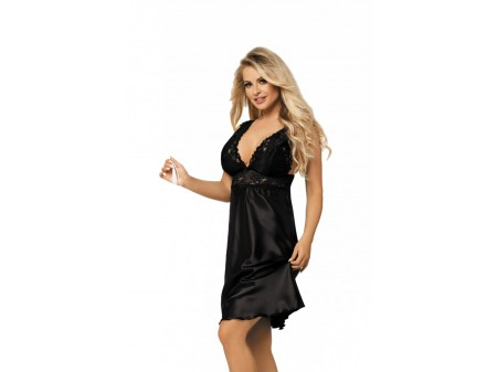 81da6348c8c1fd Dkaren Cleo czarna Koszula nocna M WYSYŁKA 24H - 7040036894 ...
