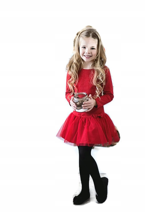 fb8069918a All for kids sukienka czerwona falbana tiul 92 98 - 7081978575 ...