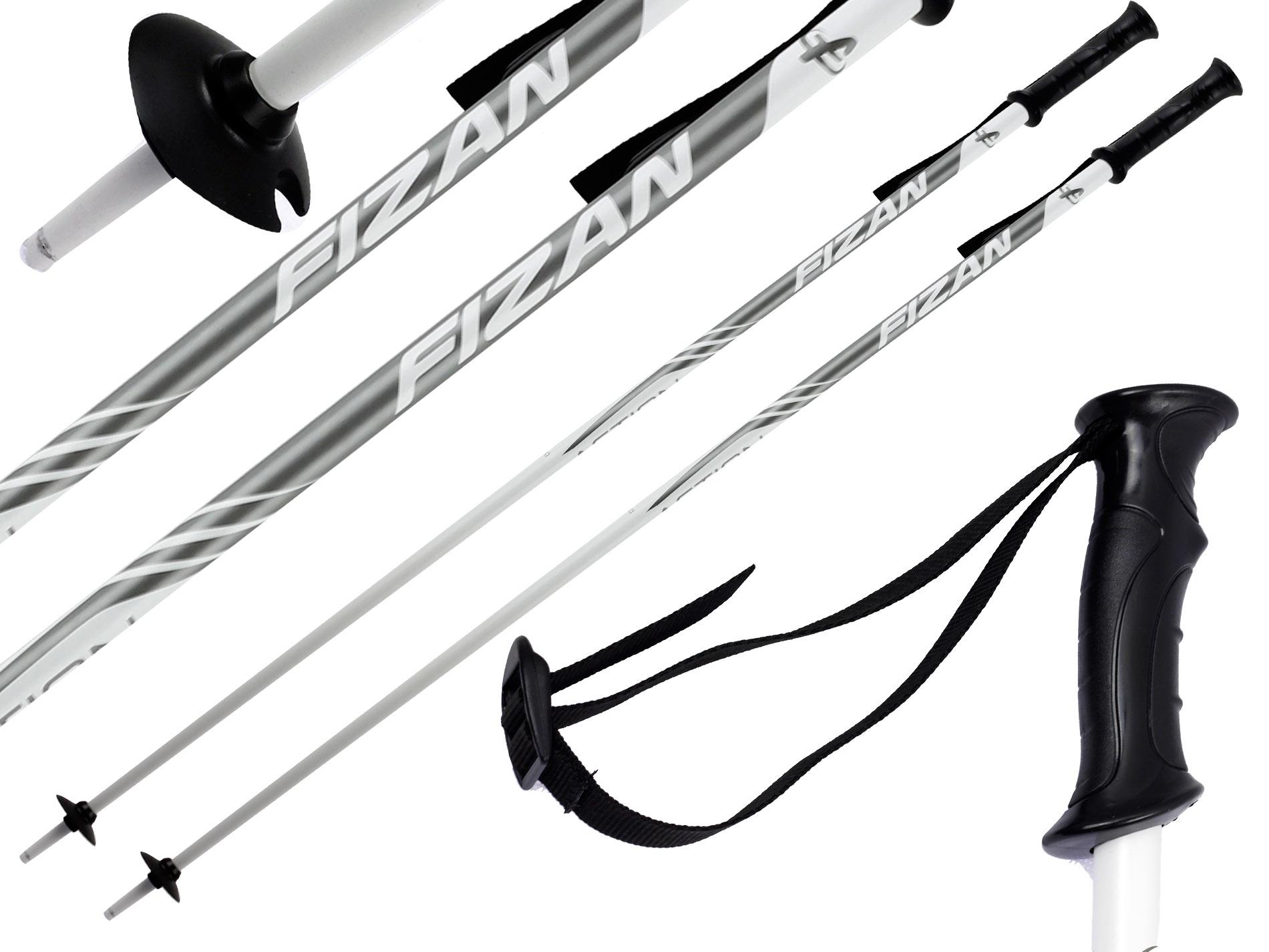 Kije narciarskie FIZAN ACTION 125 cm White 1718