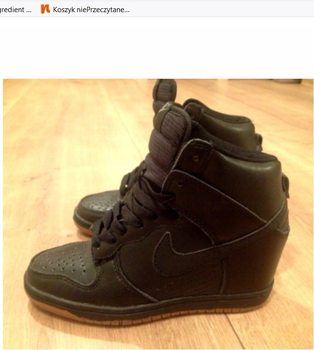 Buty NIKE dunk sky hi sneakers koturn czarne 36 7717948523