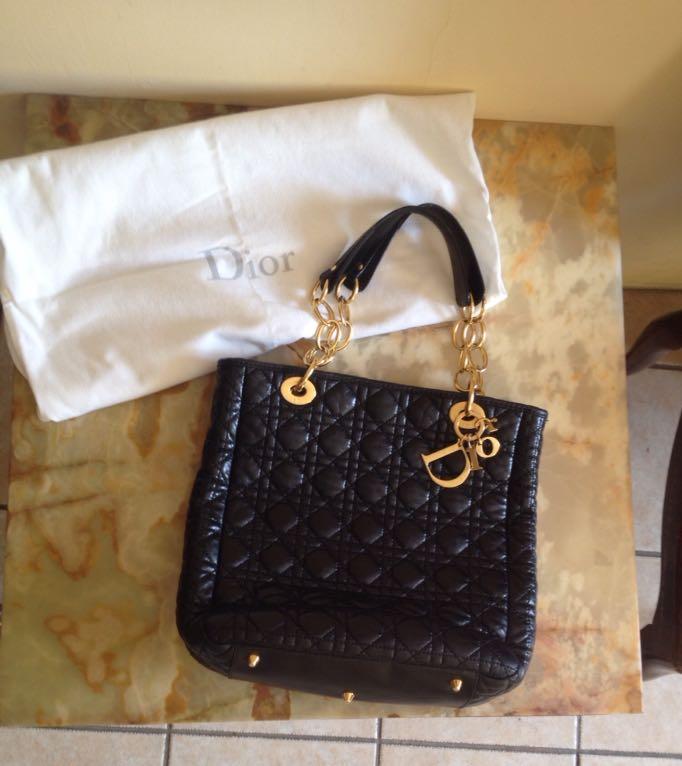 51f5be201f6c2 Oryginalna torebka Christian Dior skórzana - 7438937234 - oficjalne ...