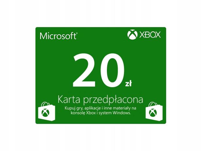 Karta Podarunkowa Xbox One Live 20 Zl 7396479142 Oficjalne