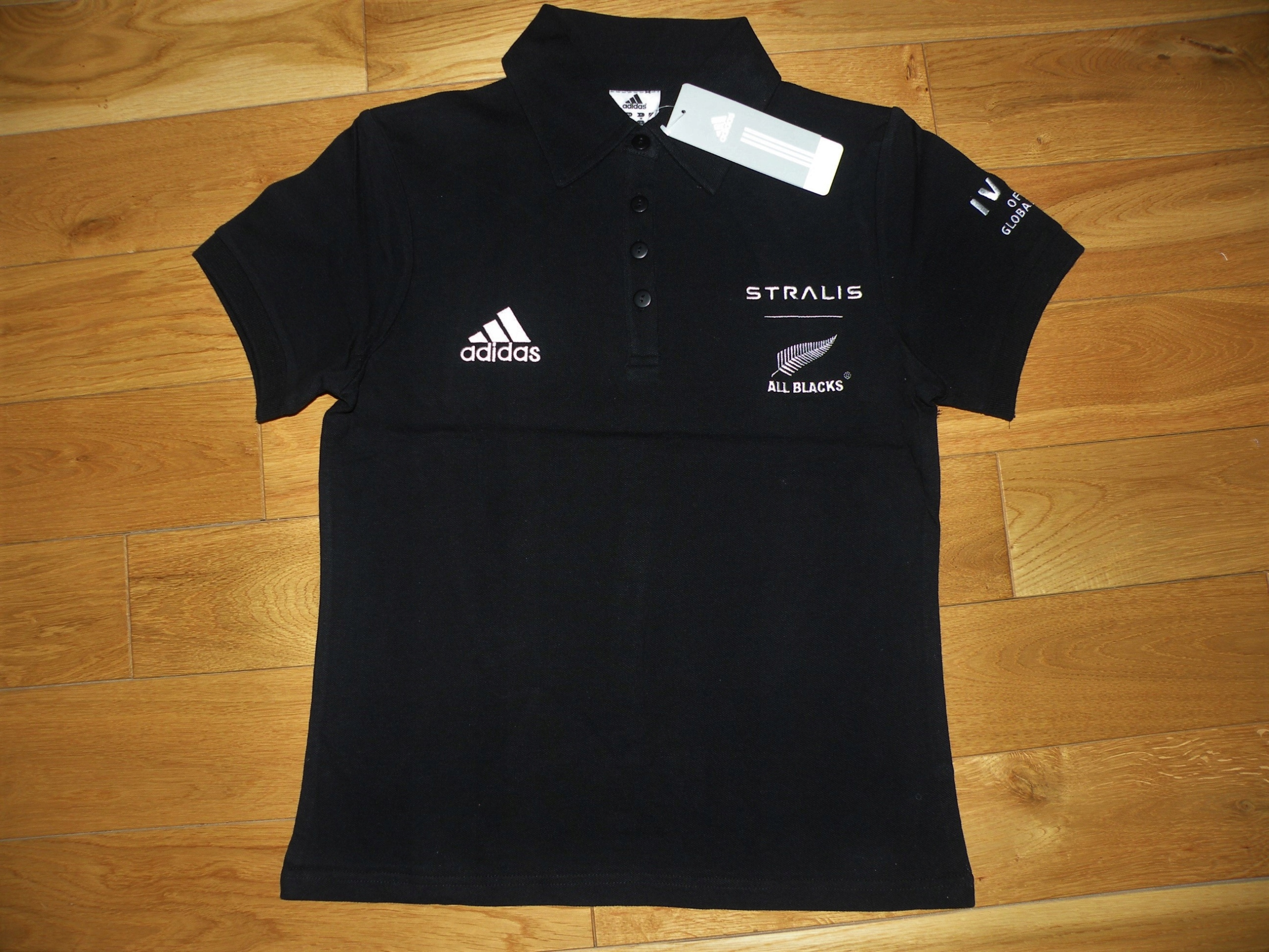 90e4d9a88 koszulka POLO damska ADIDAS IVECO ALL BLACKS r. S - 7510670709 ...