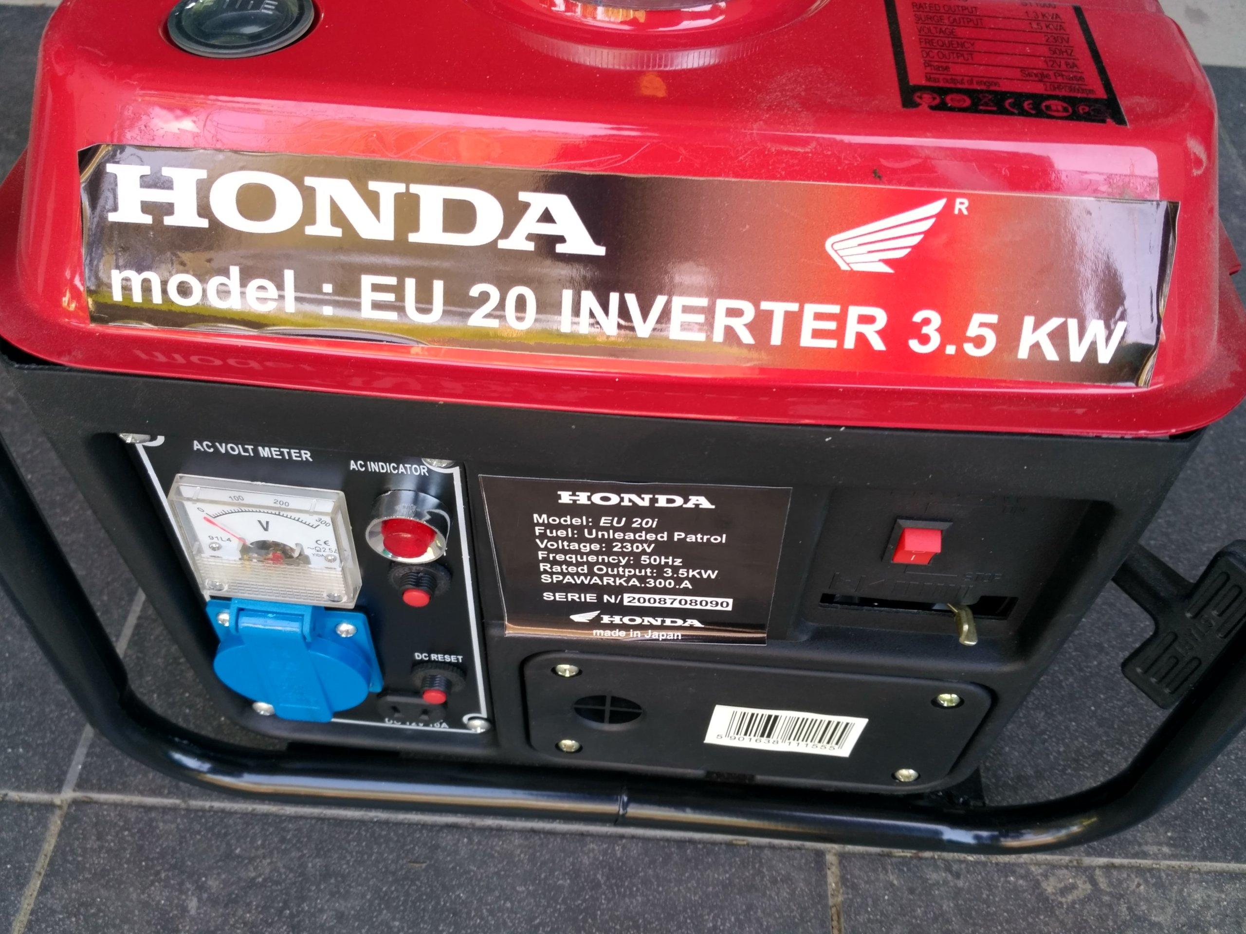 Dodatkowe Honda Agregat prądotwórczy EU 20i Inverter 3,5KW - 7353404158 SS07