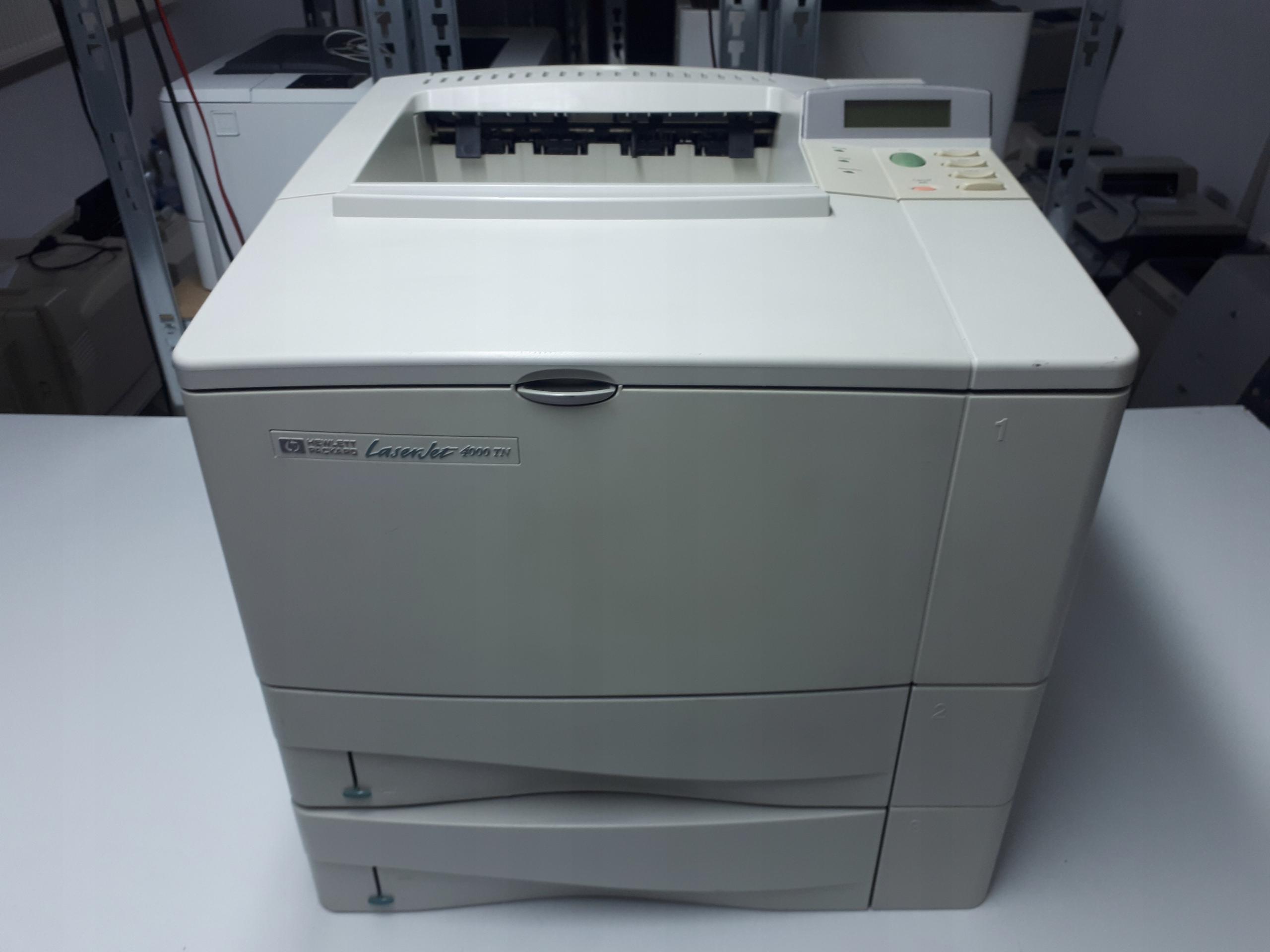 Drukarka HP LaserJet 4000TN Przebieg:27819 stron