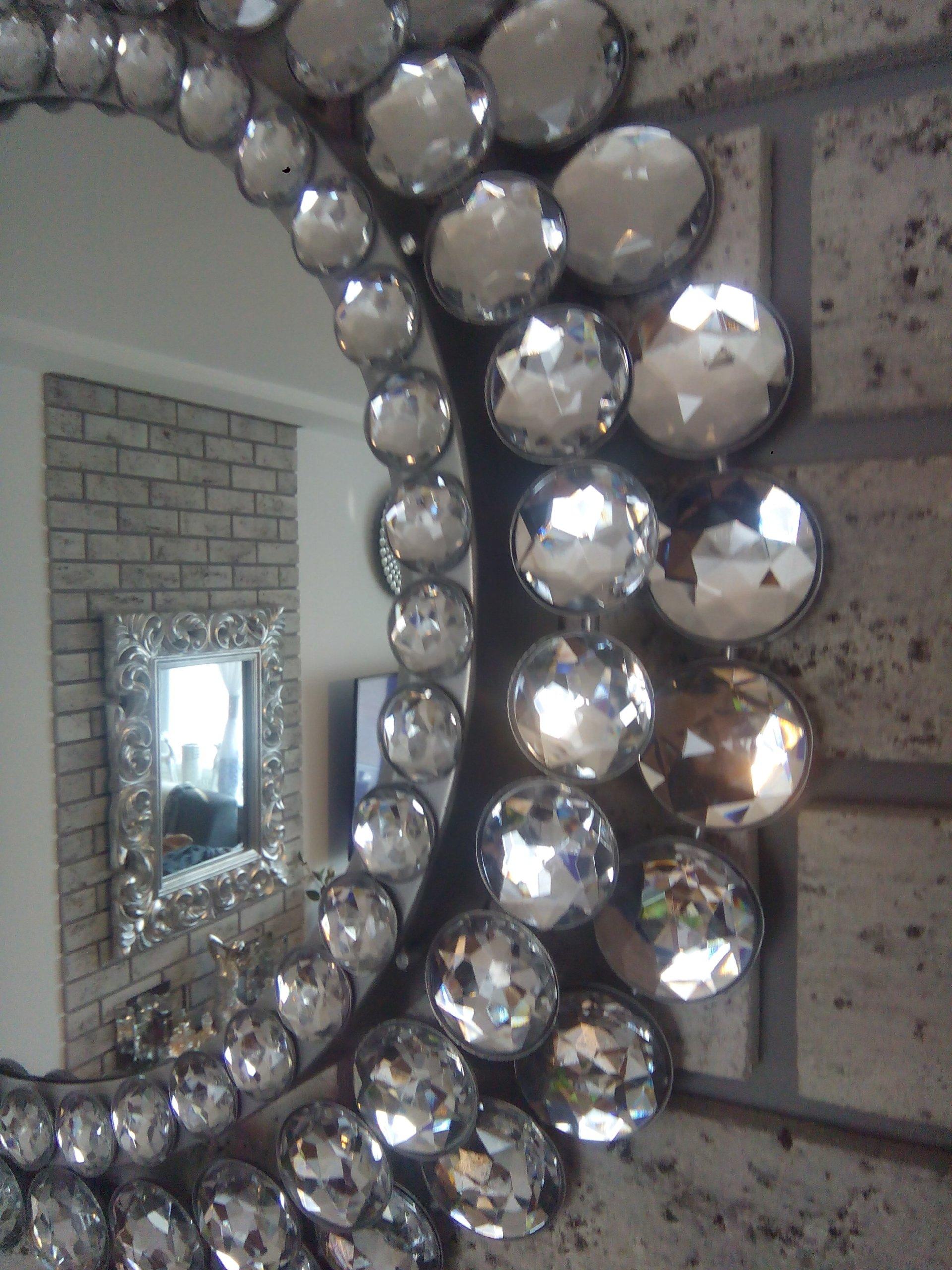 Dekoracyjne Lustro Z Diamencikami Glamour Okrągłe