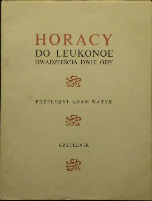 Horacy Do Leukonoe 22 Ody 6945917515 Oficjalne