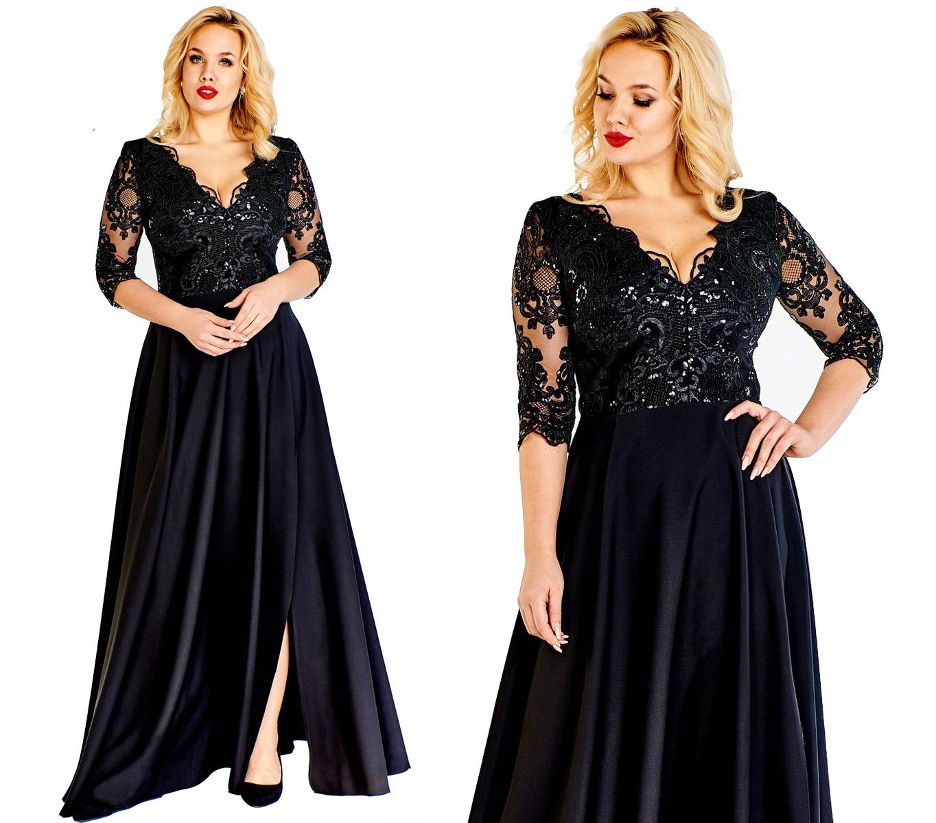 7d5141ec42 Sukienka elegancka długa 48 studniówka sylwester - 7716264830 ...
