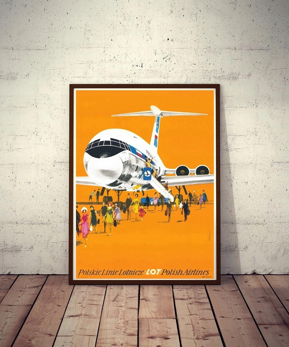 Plakat Lot Polish Airlines J Grabiański 19752018