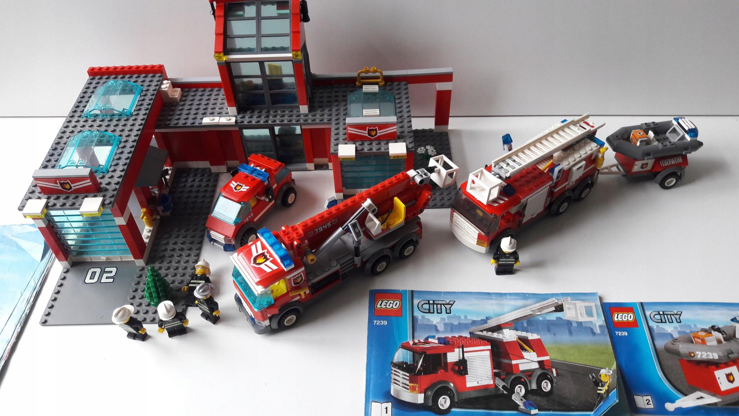 Lego City Straż Pożarna Remiza 7945 Oraz Wóz 7239 7666737285