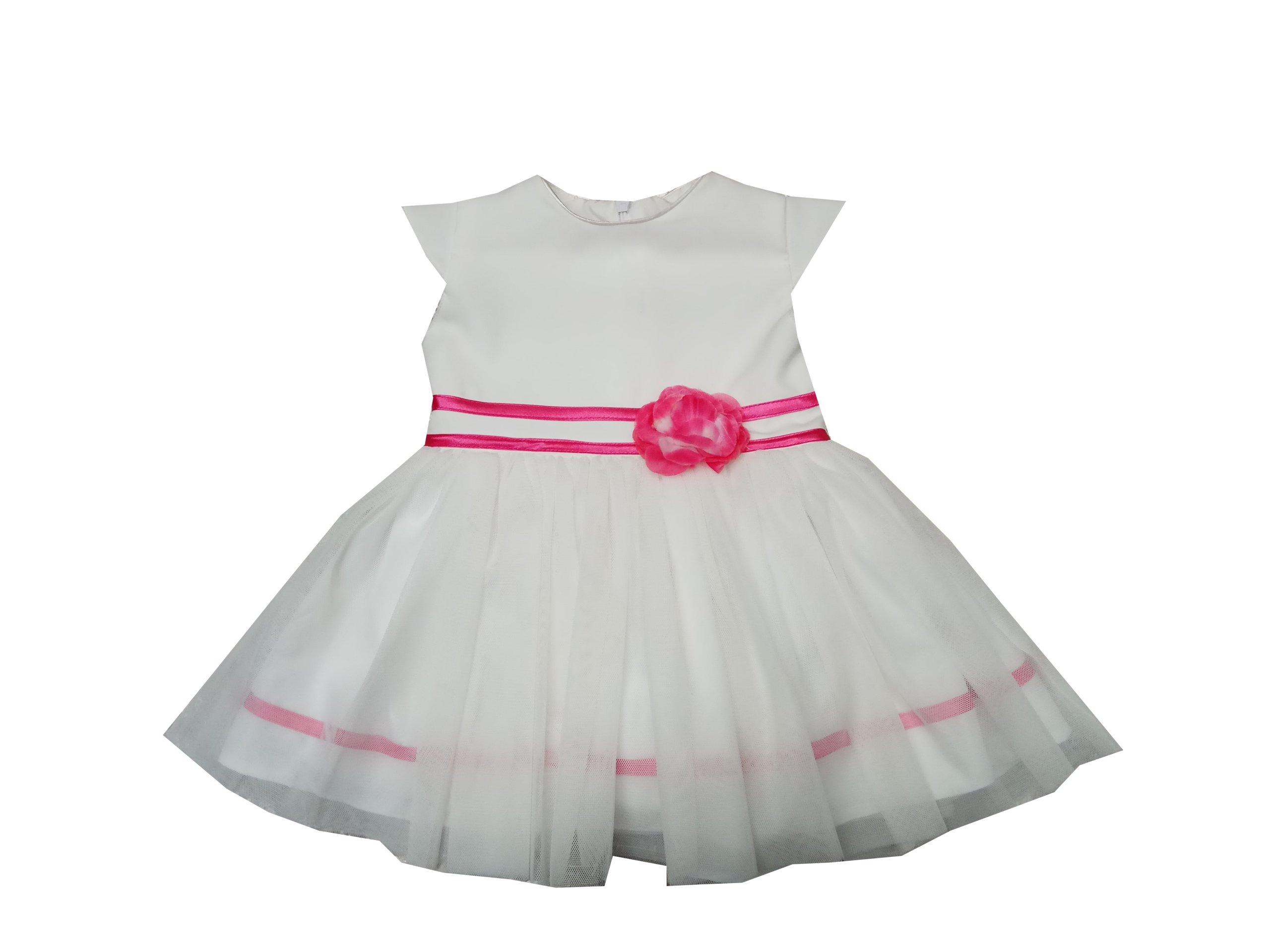 cd3ae17f28 Sukienka wizytowa wesele chrzciny ecri róż 86 - 7390152533 ...