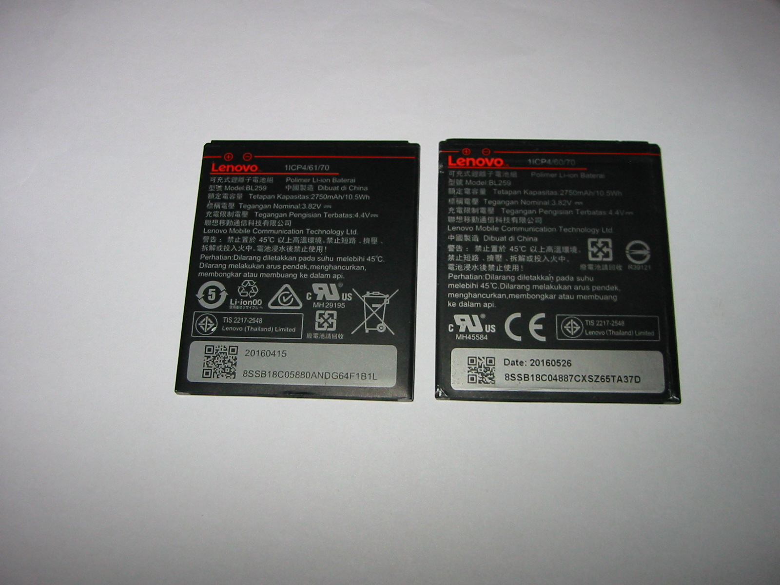 Lenovo K5 A6020a40 bateria BL259 ORYGINAŁ