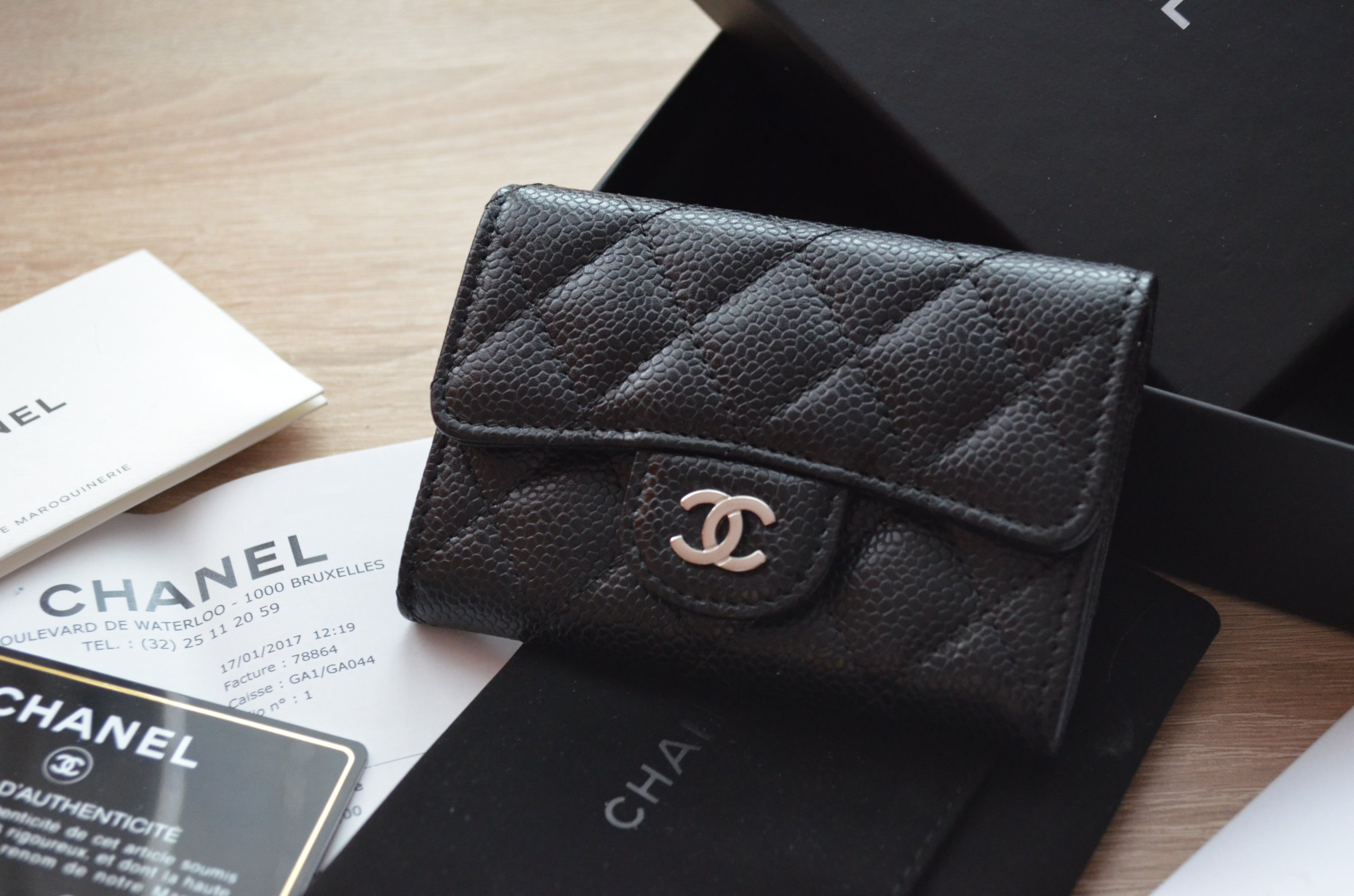 443a0b013fae2 CHANEL CARD HOLDER 100% ORYGINALNY Z RACHUNKIEM - 7218767221 ...